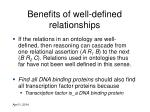 benefits of well defined relationships