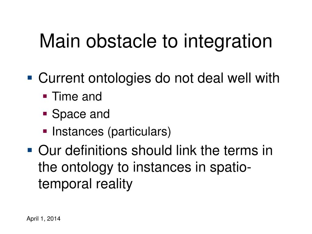 Main obstacle to integration