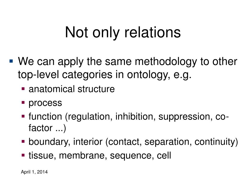 Not only relations