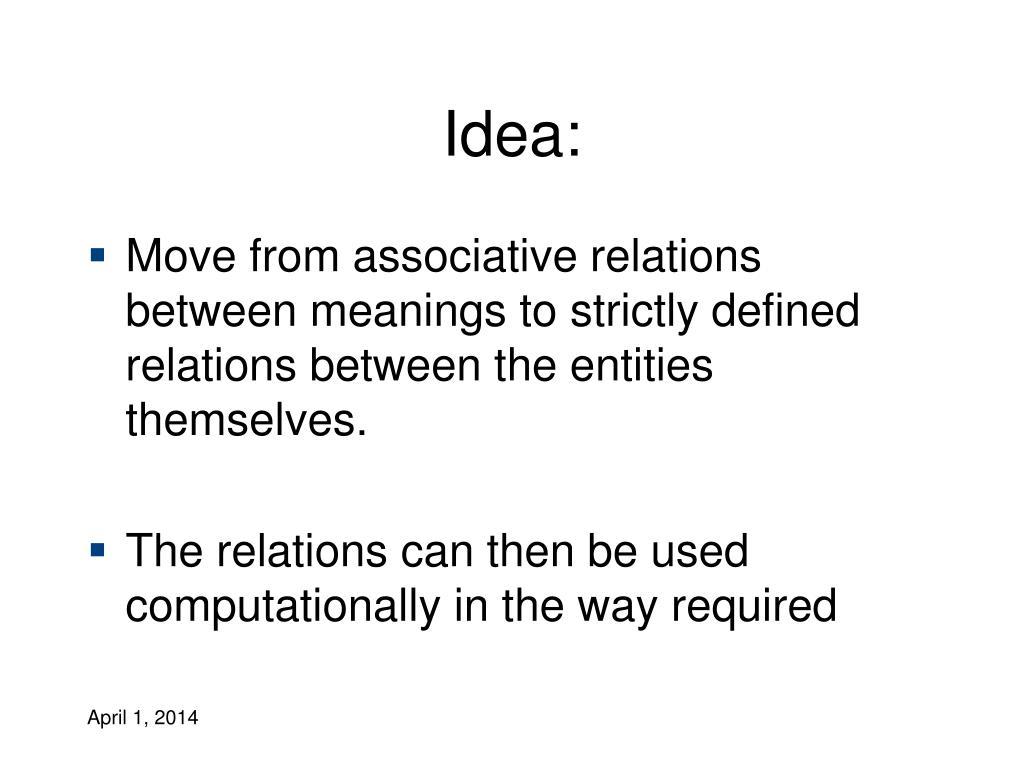 Idea: