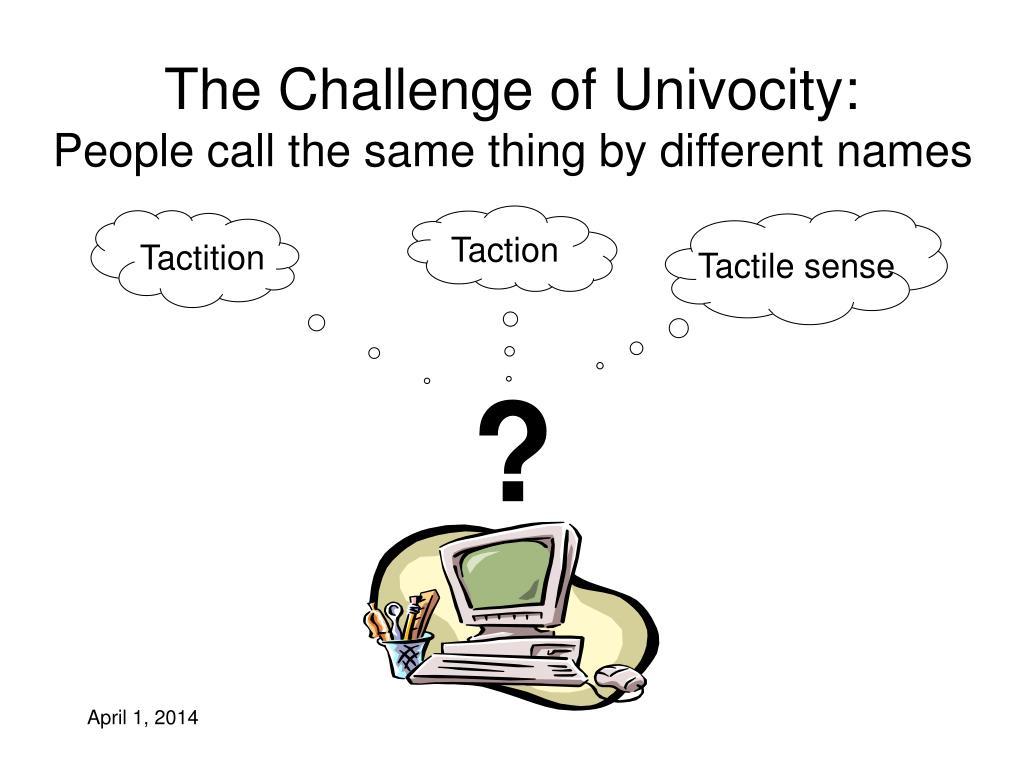 The Challenge of Univocity: