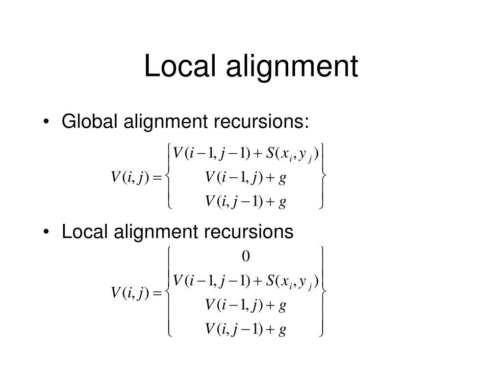 Local alignment