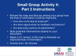 small group activity 4 part 2 instructions