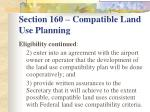 section 160 compatible land use planning7