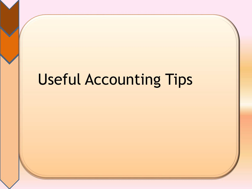 useful accounting tips l.