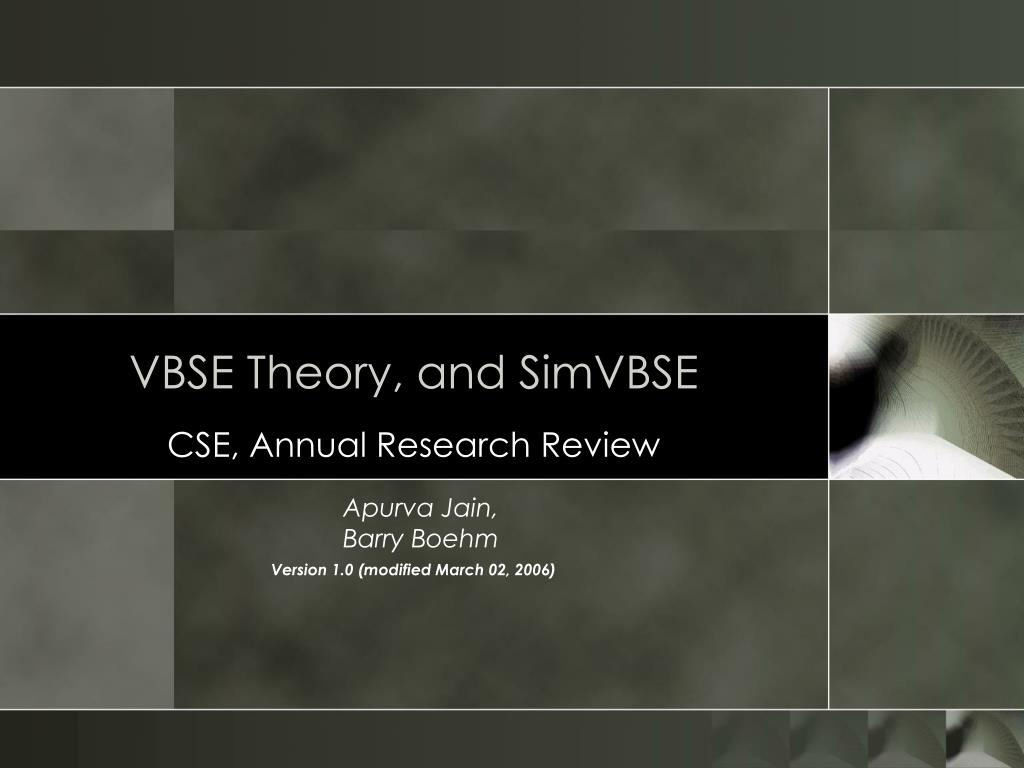 vbse theory and simvbse l.