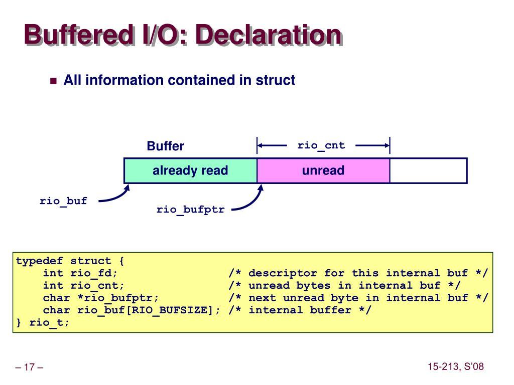 Buffered I/O: Declaration