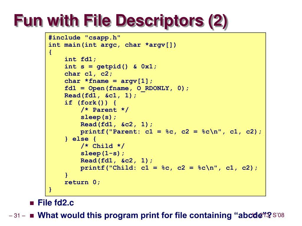 Fun with File Descriptors (2)