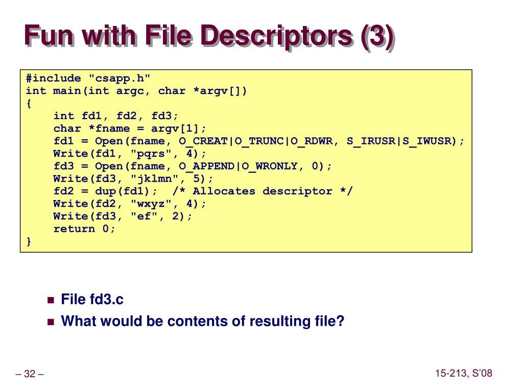 Fun with File Descriptors (3)