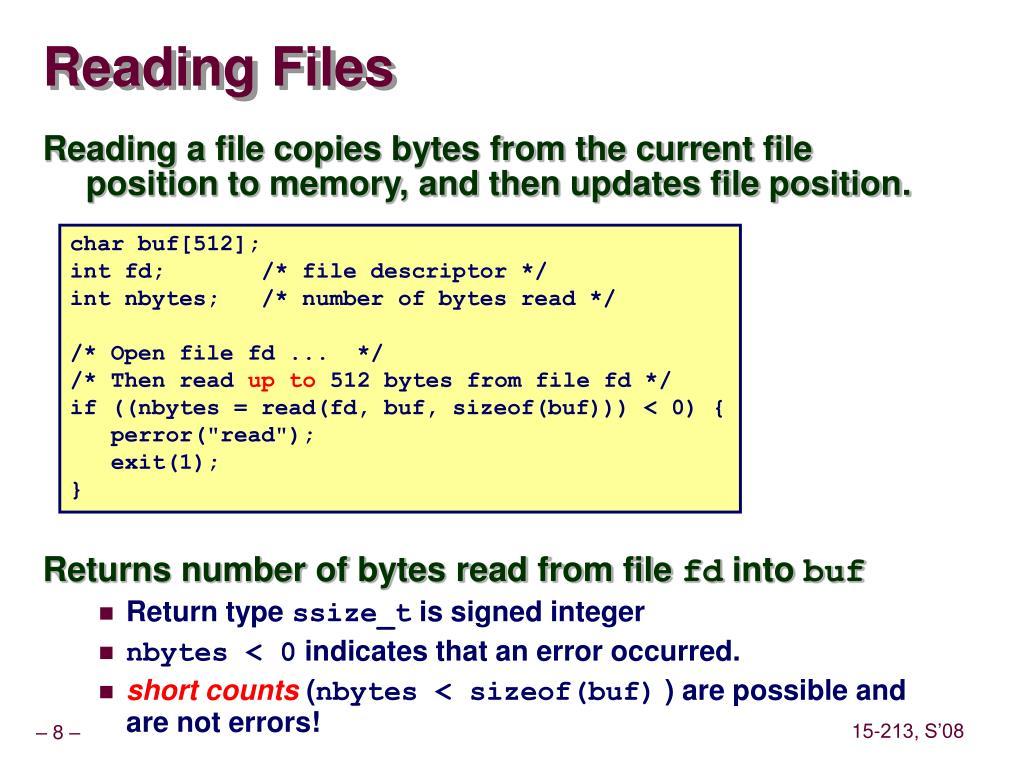 Reading Files
