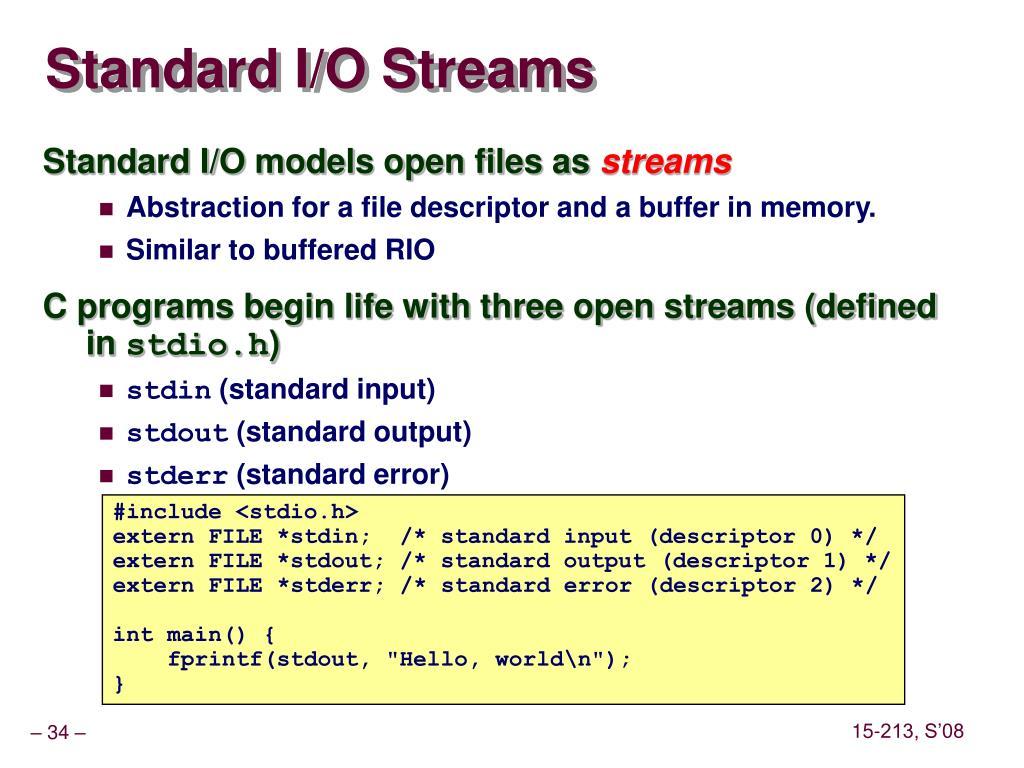 Standard I/O Streams