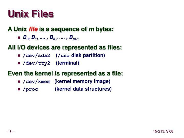 Unix files