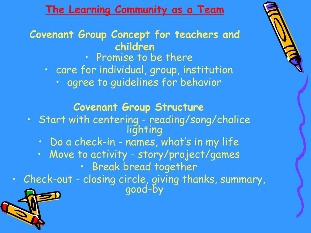 The Learning Community as a Team