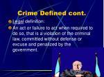 crime defined cont