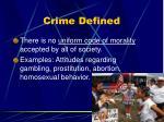 crime defined