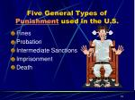 five general types of punishment used in the u s