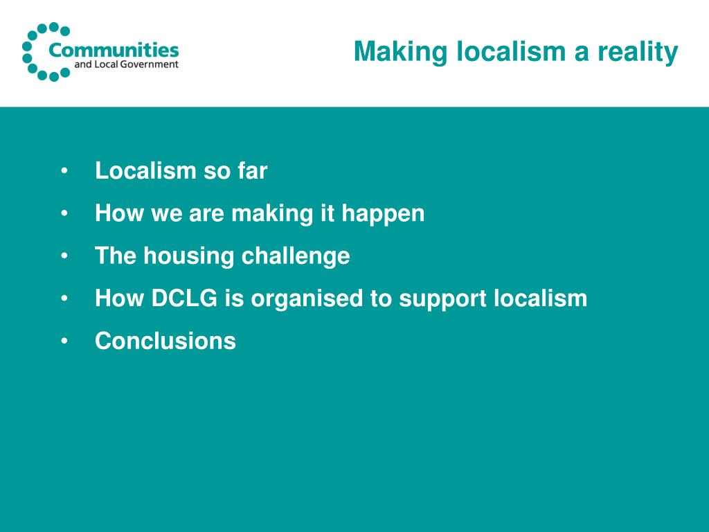 Making localism a reality