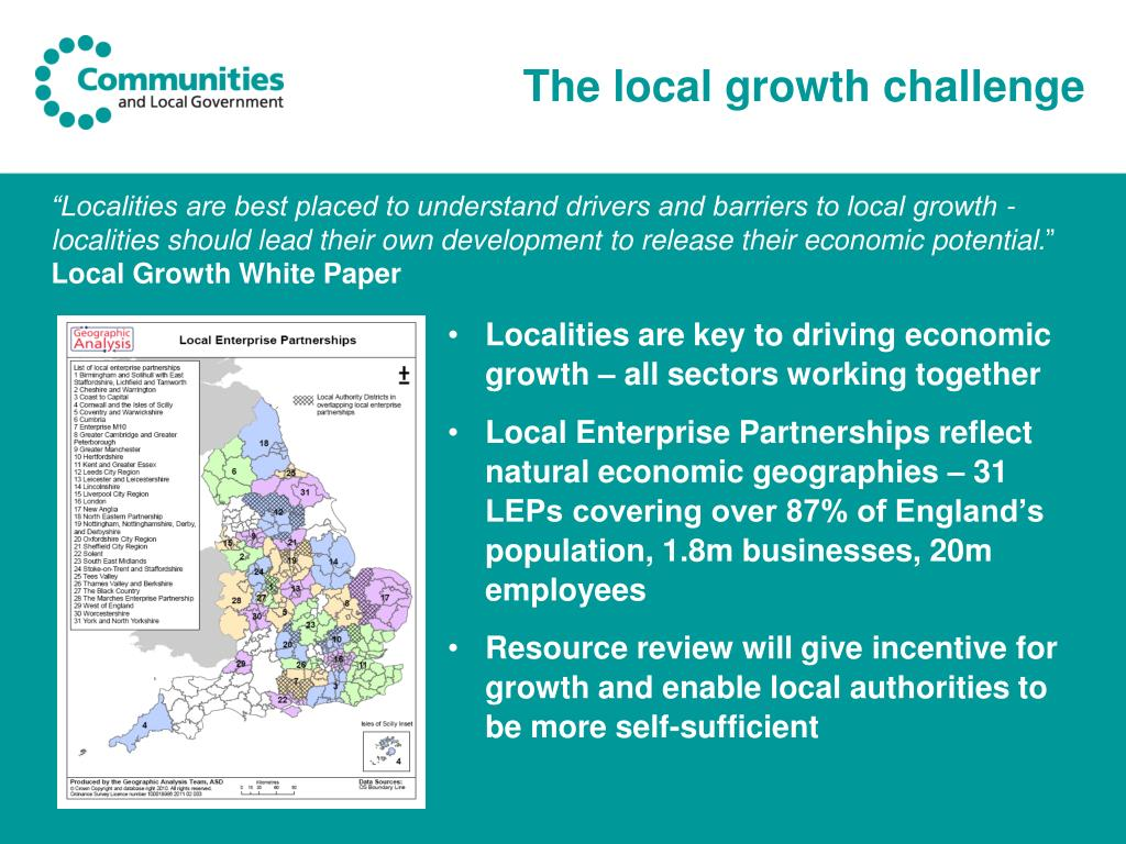 The local growth challenge