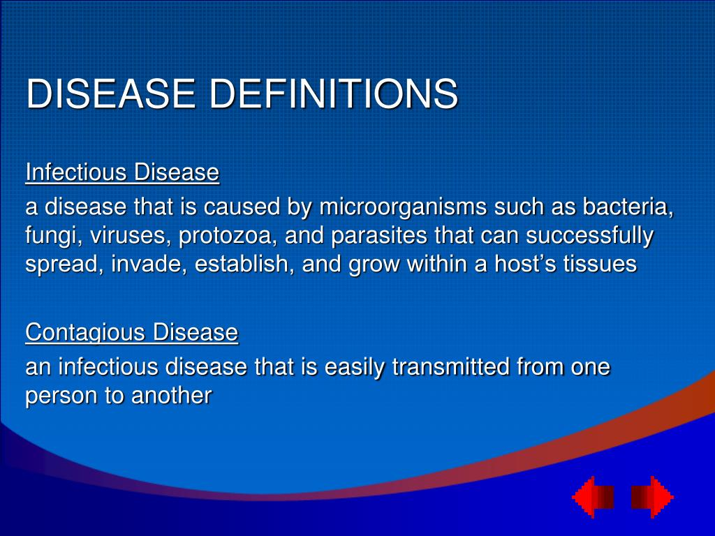 DISEASE DEFINITIONS