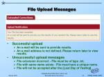 file upload messages