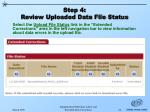 step 4 review uploaded data file status