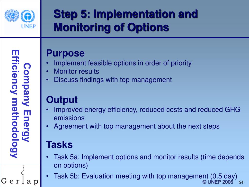 Step 5: Implementation and Monitoring of Options