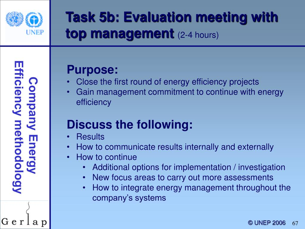 Task 5b: Evaluation meeting with