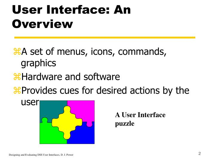 User interface an overview