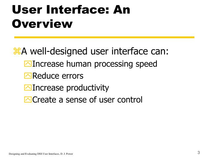 User interface an overview3
