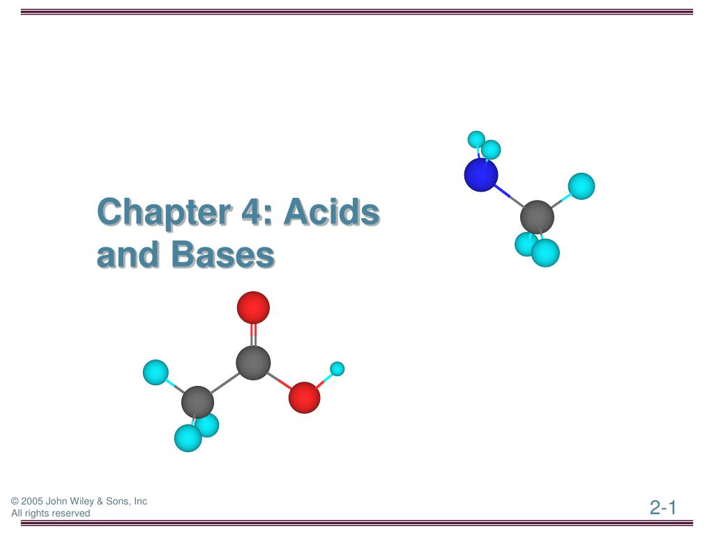 chapter 4 acids and bases