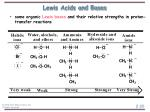 lewis acids and bases20
