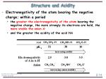 structure and acidity14