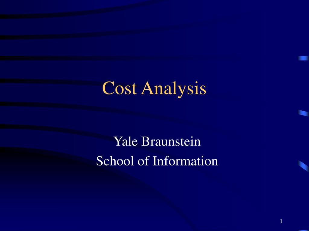 cost analysis l.
