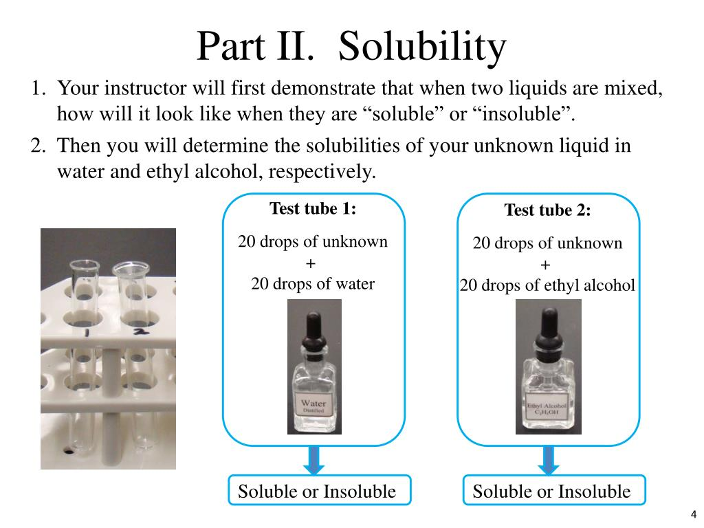 Part II.  Solubility