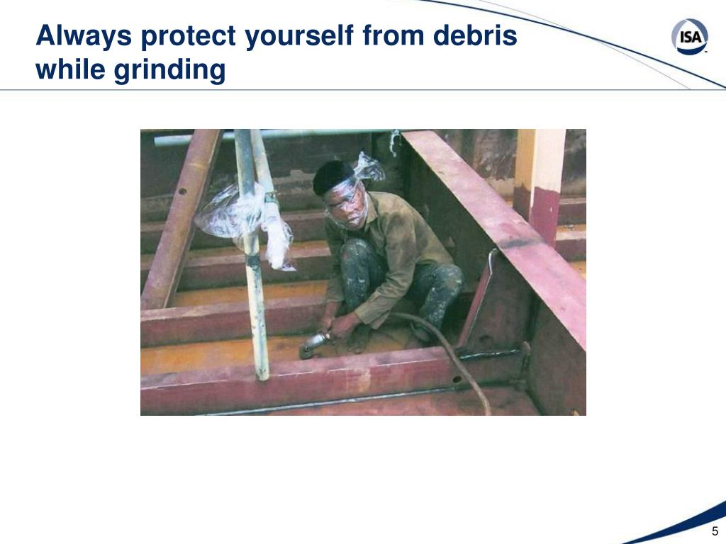 Always protect yourself from debris
