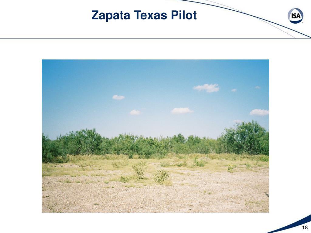Zapata Texas Pilot