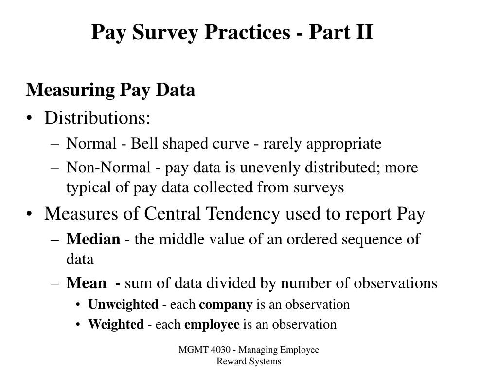 pay survey practices part ii