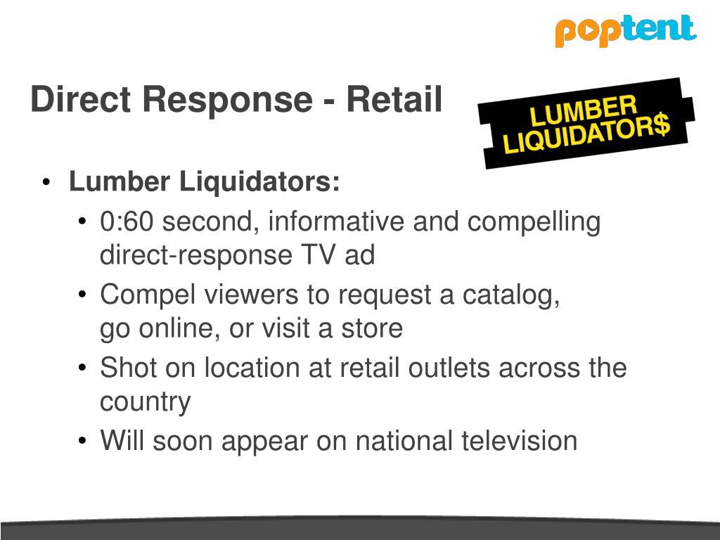 Direct Response - Retail
