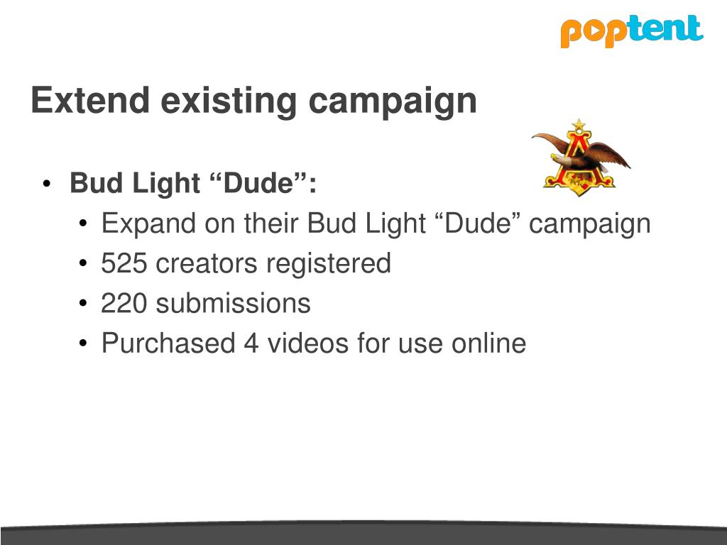 Extend existing campaign