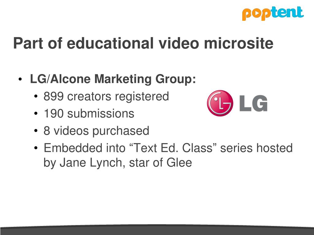 Part of educational video microsite