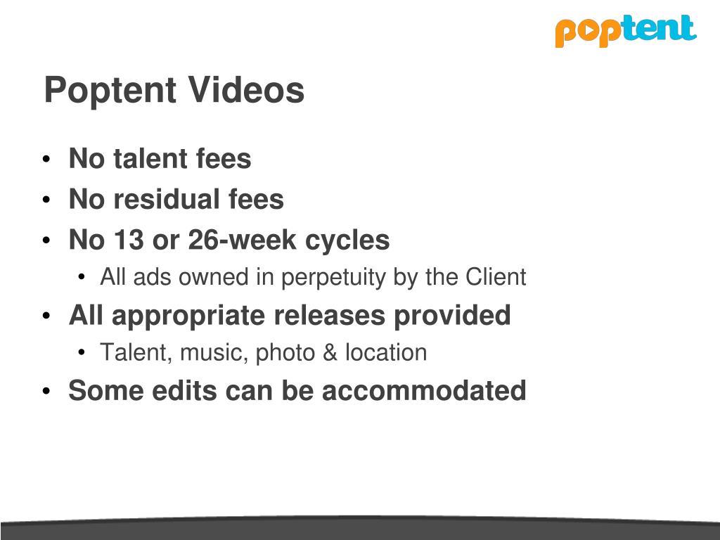 Poptent Videos