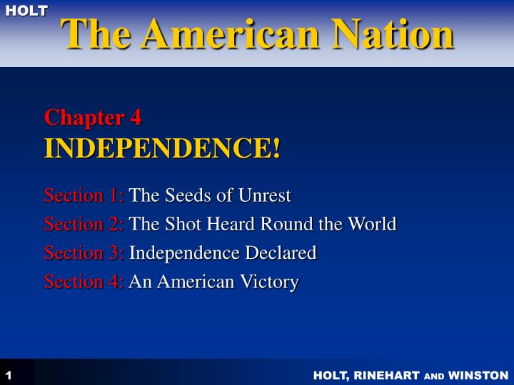 chapter 4 independence n.
