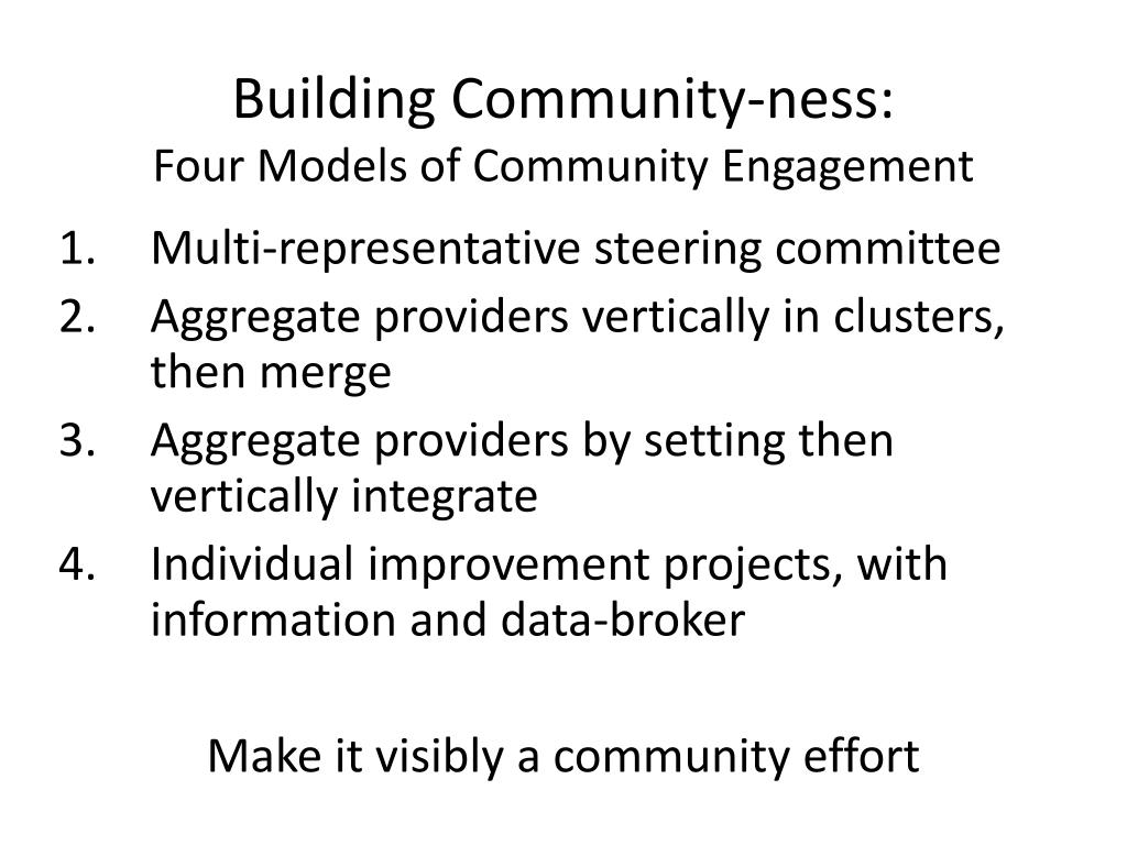Building Community-ness: