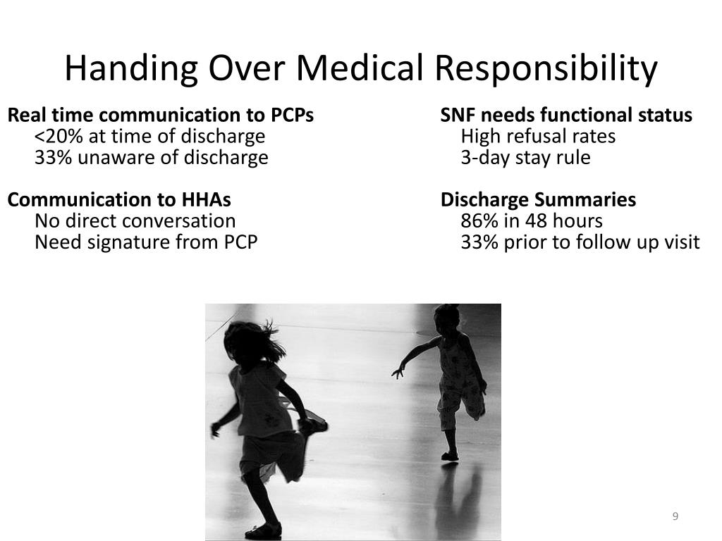 Handing Over Medical Responsibility
