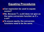 equating procedures