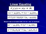 linear equating