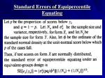 standard errors of equipercentile equating
