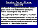 standard errors of linear equating