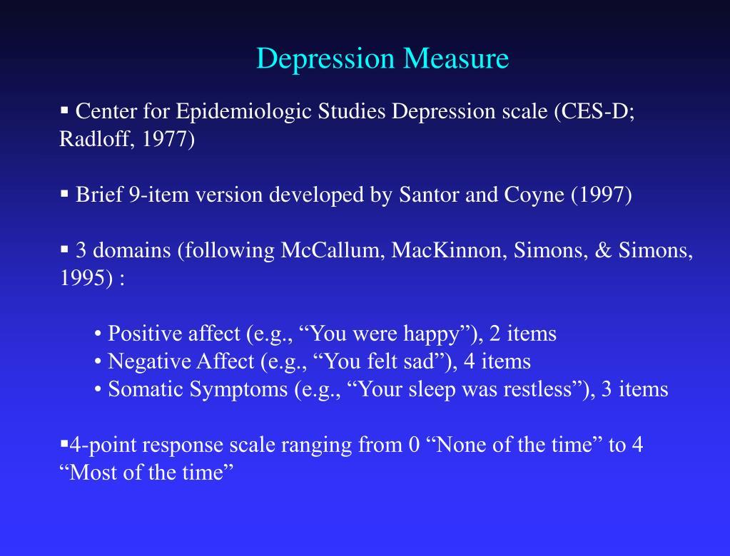 Depression Measure