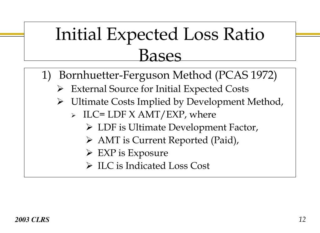 Bornhuetter-Ferguson Method (PCAS 1972)